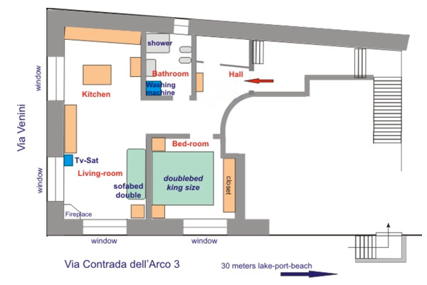 Maria's House internal layout